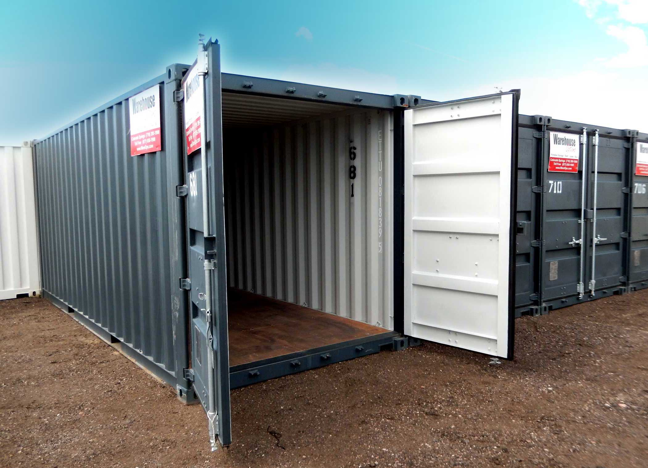 Ground level Containers for Temporary Storage Warehouse Options