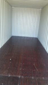Used shipping container for sale - interior image
