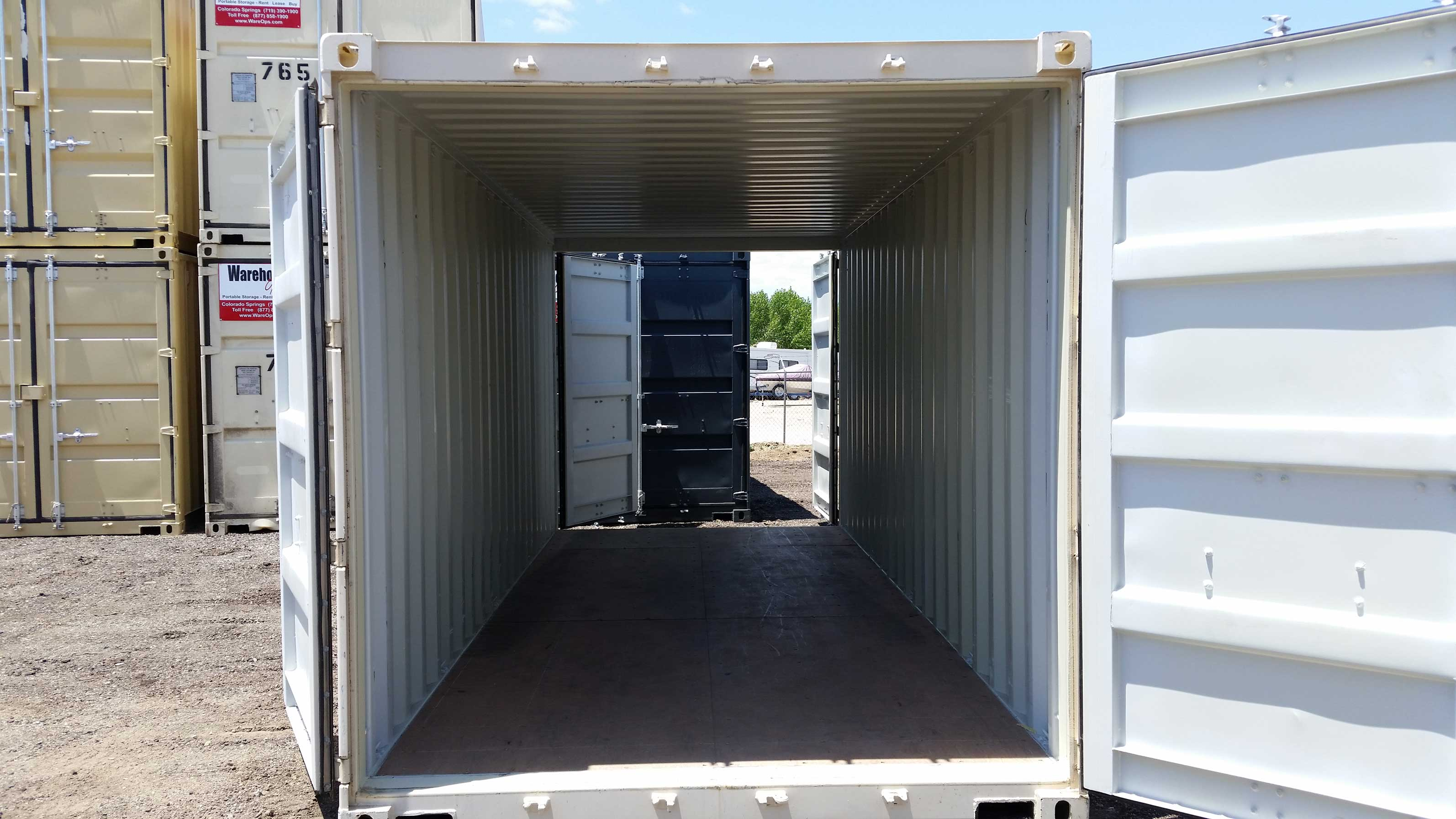 NONE AVAILABLE NOW Double Door 20 foot Storage Containers