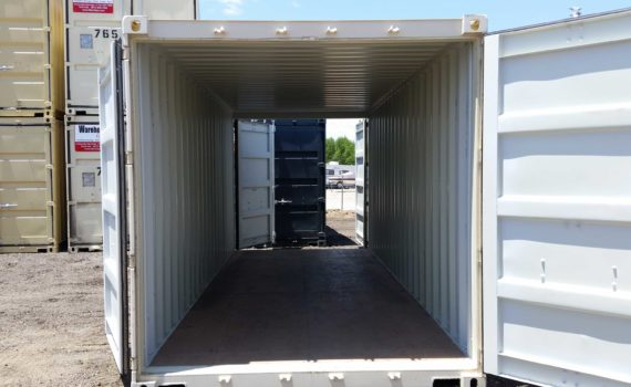 Double door storage container